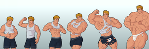 Commission: Muscle growth by headingsouth