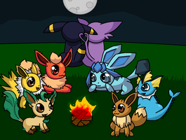 eeveelution camp by Bmouat