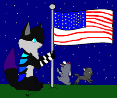 wave ur flag by Animaluver21