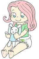 Commission: Baby Fluttershy by Toddler-At-Heart