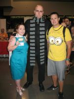Heroes Con 2013 Lucy Wilde with Gru and Minion by stinethecrafter
