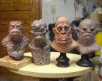 Minibusts group 1 by BOULARIS