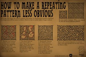 How to make a Repeating Pattern less obvious by Zovya