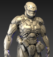 Sci-Fi trooper.WIP by Ngonic