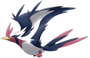 Mega Swellow by Smiley-Fakemon