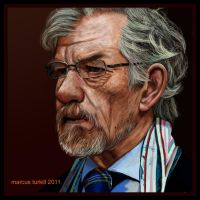 Retrato de Sir Ian McKellen by turkill