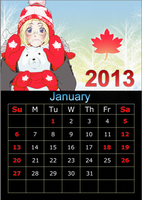 Hetalia 2013 Calendar-January by Inevitable98