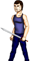 Swordsman (colored) by guelpacq