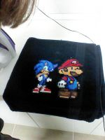 sonic and mario perler beads by Rest-In-Pixels