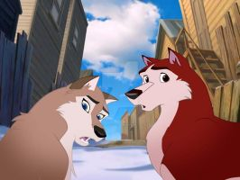 Balto II - III  Aleu and Kodi by KateROCK777