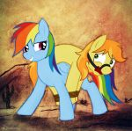 Rainbow Dash Caught A Braeburn by Echorilec