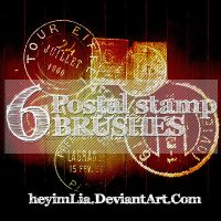 Postal Stamp Brushes by HeyImLia