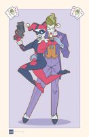 The Joker and Harley Quinn - King Of Hearts by daabcreative