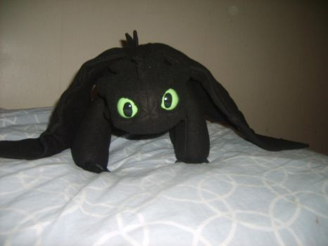 Toothless plush by Golden-nightdragon
