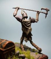 Draugr Deathlord close up (back) by MichaelEastwood