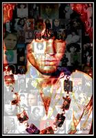 Collage of Jim Morrison by Scropitarius