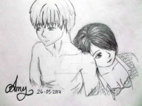 Ken and Touka 125 by AmyNovacaine