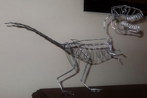 UNFINISHED YET T-REX in wire by TheWallProducciones