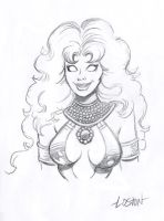 Starfire Sketch by LostonWallace