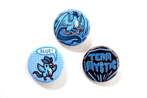 Team Mystic Button Set by pookat