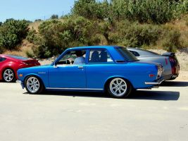 Datsun 510 coupe Nissan GTR by Partywave