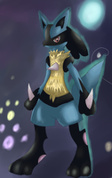 Lucario by LizardonEievui13
