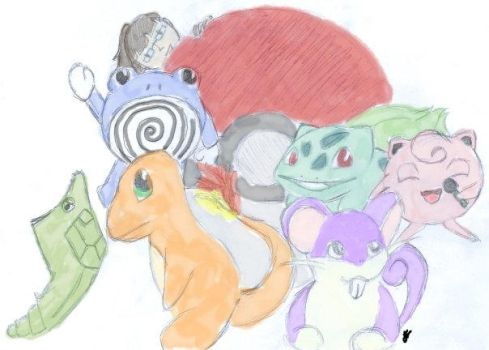 Me and my Pokemon by LadyKit08