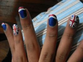 Union Jack Nails by AliceDoesDrugs