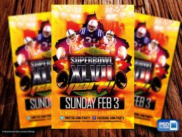 Superbowl Party Flyer PSD by Industrykidz