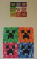 Minecraft Perler Series Sheep and Creeper by miss-j-bean