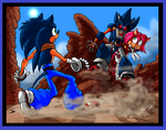 Sonic - Sonic v Metal by GearGades