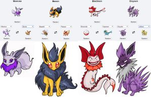 Pokemon Fusion Stickers Eeveeloution Set by DivineTofu