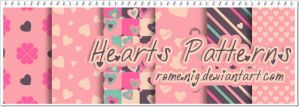 Hearts Photoshop Patterns by Romenig