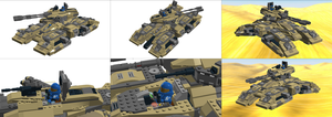 LEGO Halo - M850 ''Grizzly'' Collage by Aryck-The-One