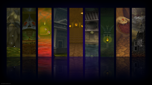Zelda Ocarina of Time Dungeon Wallpaper HigherRes by WhatGibbz