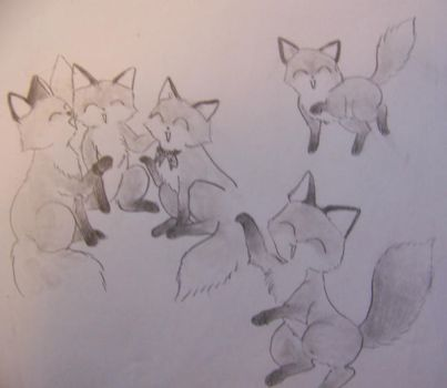 foxes by parrots4life