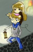 Pewdie and Cutie by Shinigami-Picola