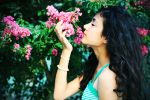 she is a flower lover by pinkviewfinder