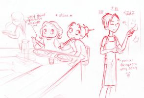 at the japanese restaurant by MarineElphie