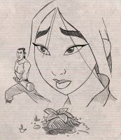 Mulan doodles by SimonPovey