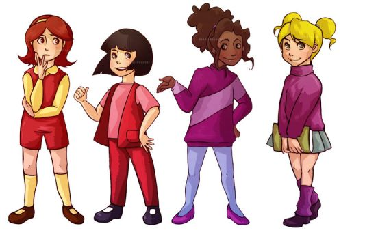Magic School Bus Girls by Do0dlebugdebz