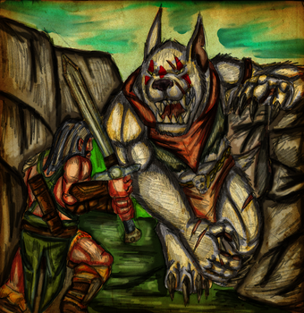 Tyruss versus Riza by EvilDevilKing