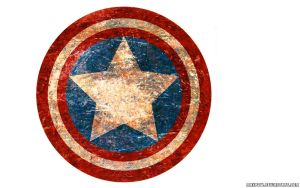 Captain America old shield by Maxpow