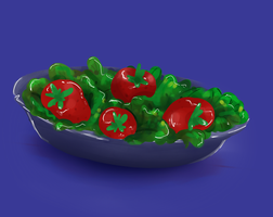 Strawberries in a Bowl by IslandMyths