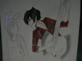Marshall Lee x Fionna Adventure time WIP by SerenaDerekArt