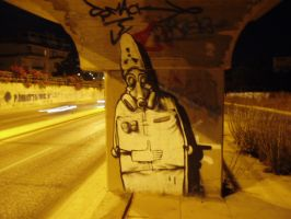 Graffiti on a highway by StReSSs