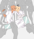 Forced kiss yaoi by Mort-kun-bases