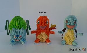 1st Starter Pokemon Origami 3d by Sfa87