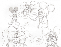 Mickey n Minnie Mouse doodles by Carurisa