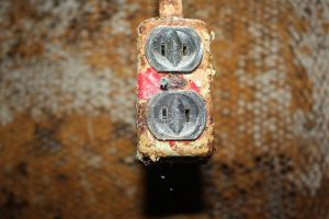 rusted outlet. by raspberryxjam